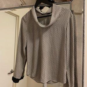 Zara Print Cowl Neck Blouse